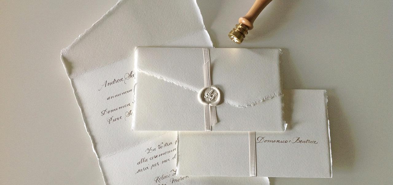 La letterina di Natale su carta a mano