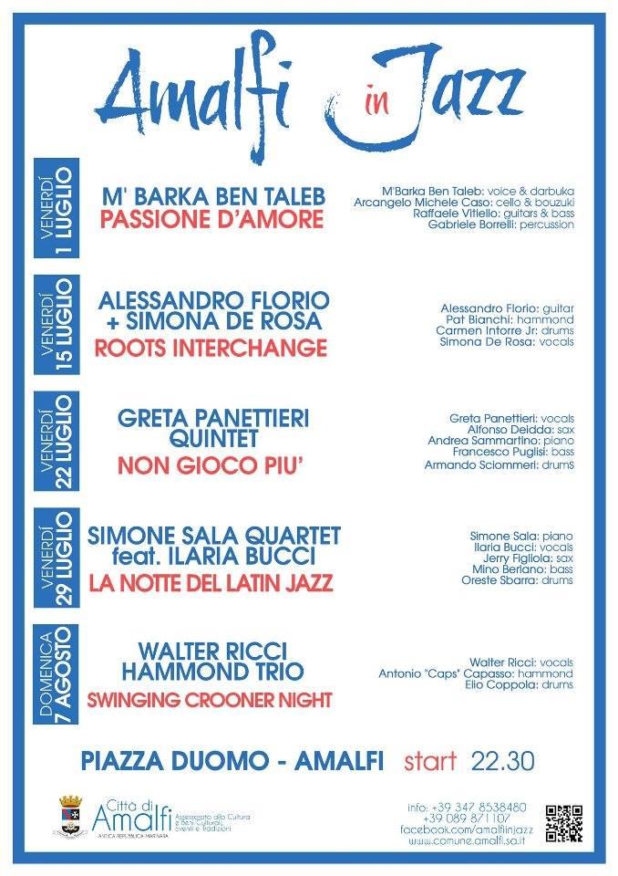 Programma Amalfi in Jazz 2016