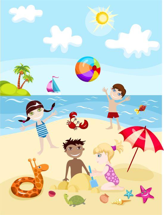 Beach Children Party. Nerf Party