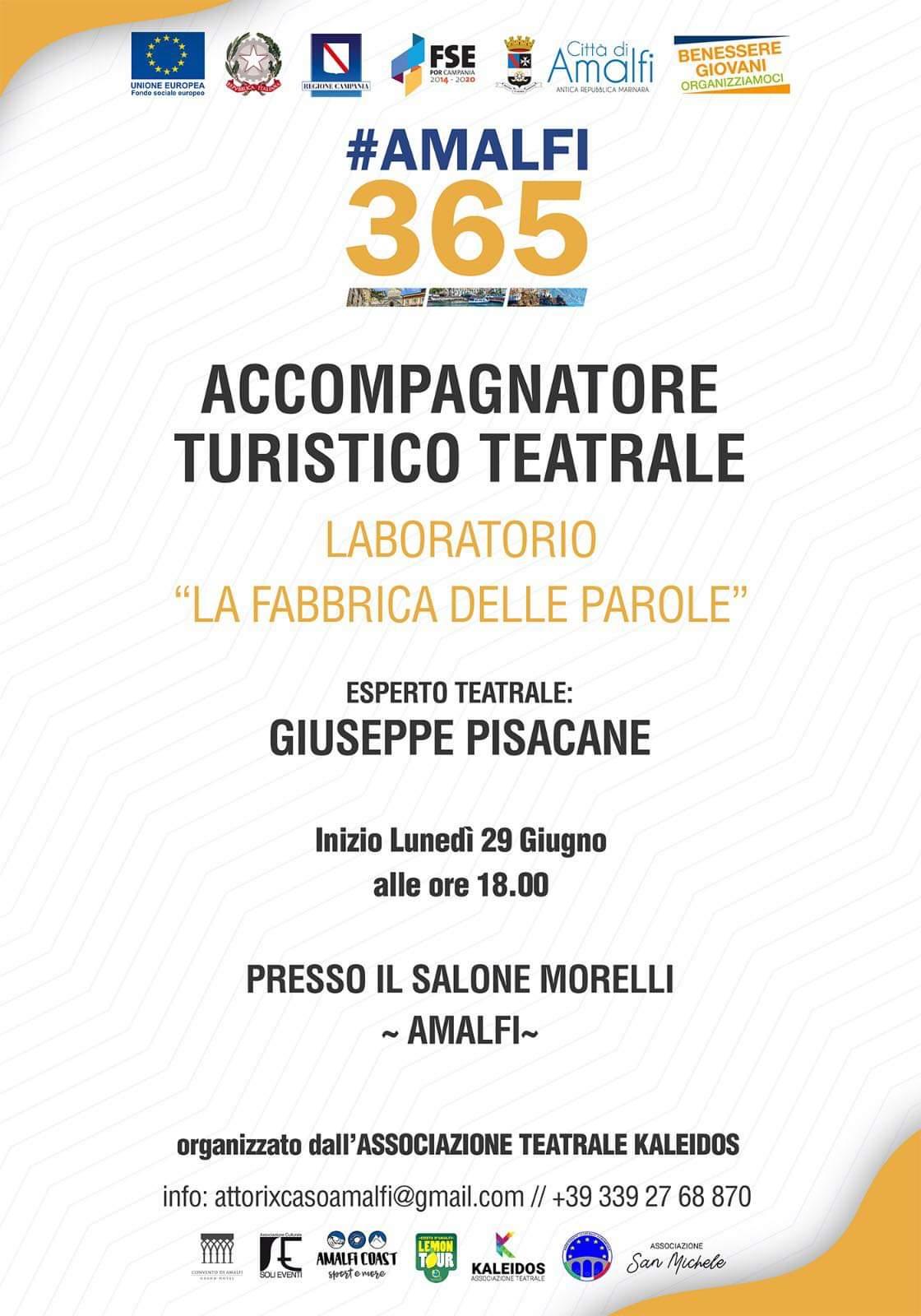 #Amalfi 365. Corso per accompagnatore turistico teatrale
